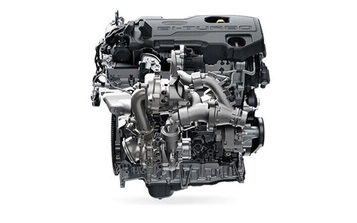 Động cơ diesel 2.0L BiTurbo công nghệ mới mạnh mẽ