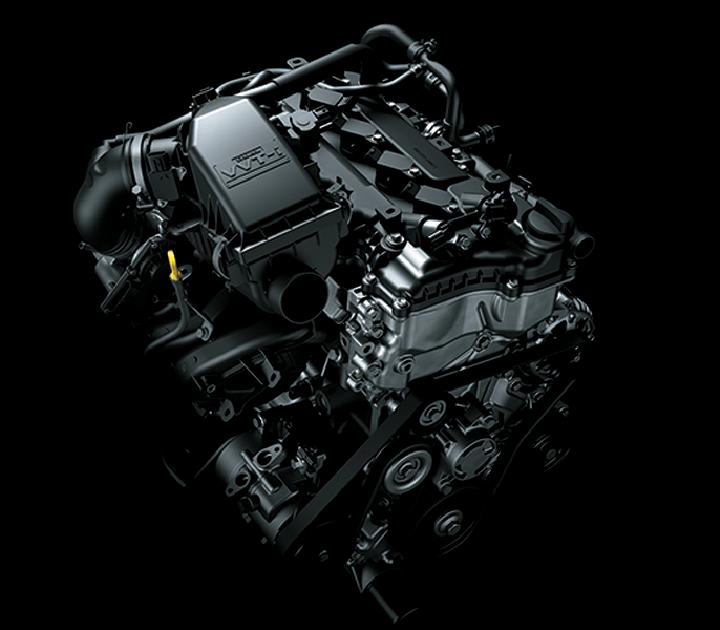 Động cơ VVT - i kép cho hiệu suất cao, tiết kiệm nhiên liệu và thân thiện với môi trường.  Hộp số