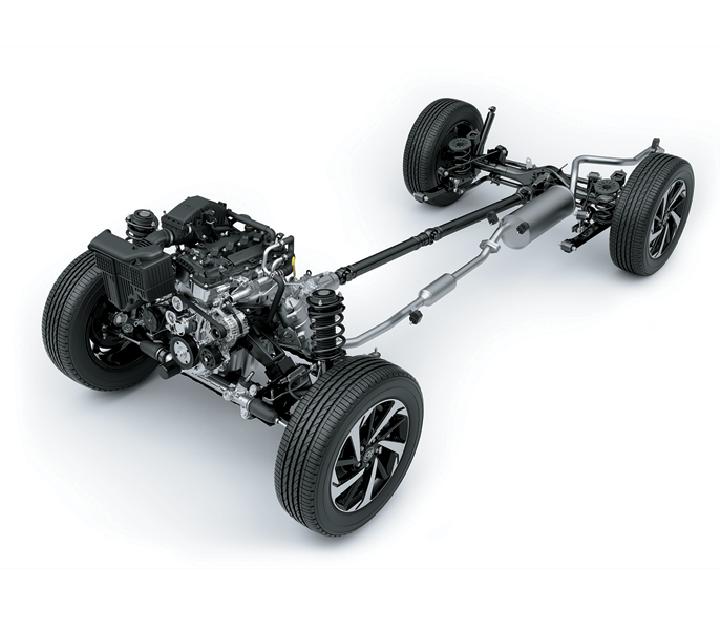 Hệ thống dẫn cầu sau với sức đẩy tốt giúp xe lên dốc và chở tải dễ dàng.