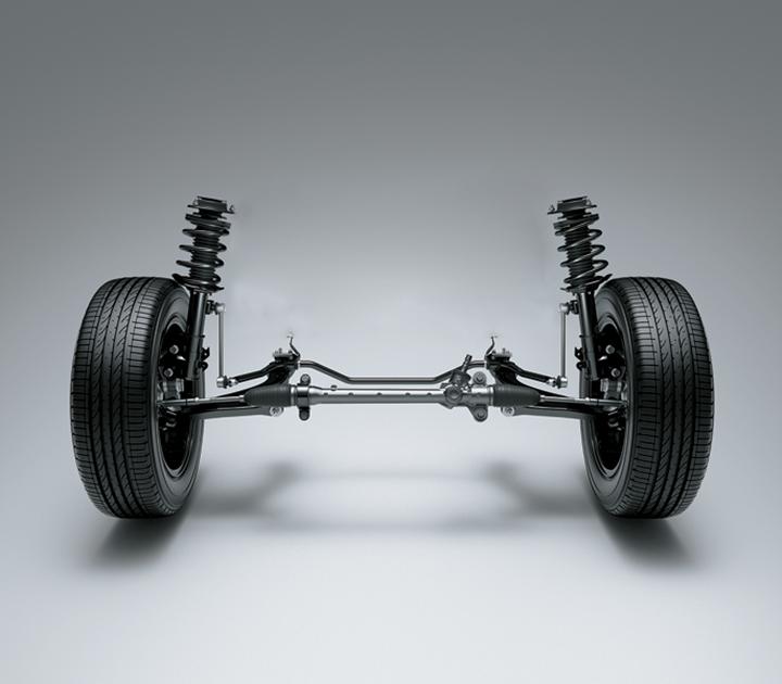 Hệ thống treo với thiết kế thông minh giúp TOYOTA WIGO vận hành êm mượt và ổn định.