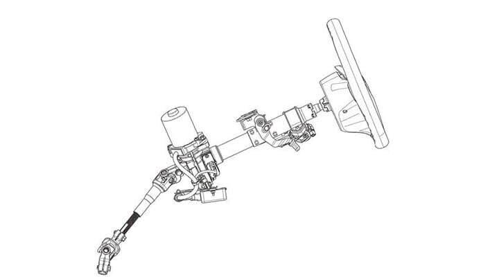 Tay lái trợ lực điện có khả năng điều chỉnh 2 hướng