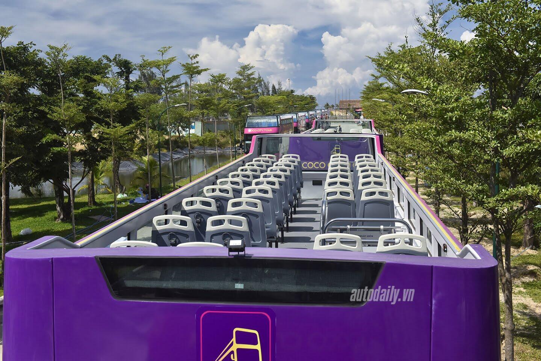 """Vào Đà Nẵng, """"cưỡi"""" xe bus 2 tầng giá 6 tỷ của Thaco - Hình 3"""
