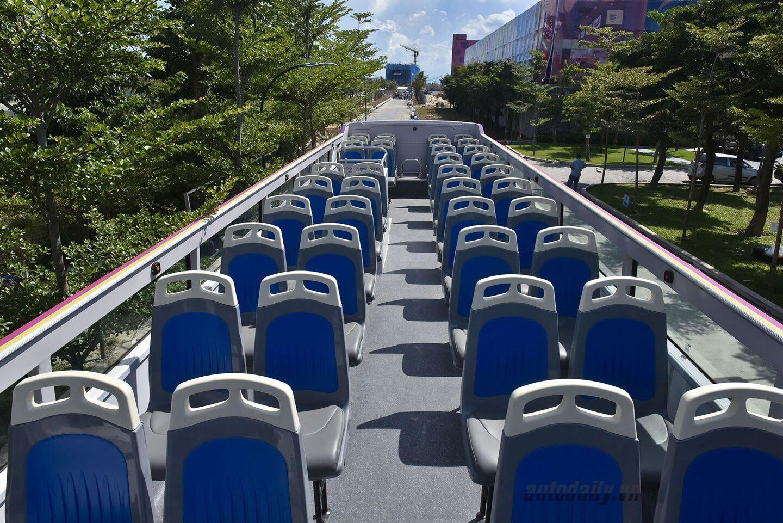 """Vào Đà Nẵng, """"cưỡi"""" xe bus 2 tầng giá 6 tỷ của Thaco - Hình 5"""
