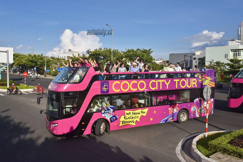 """Vào Đà Nẵng, """"cưỡi"""" xe bus 2 tầng giá 6 tỷ của Thaco - Hình 9"""