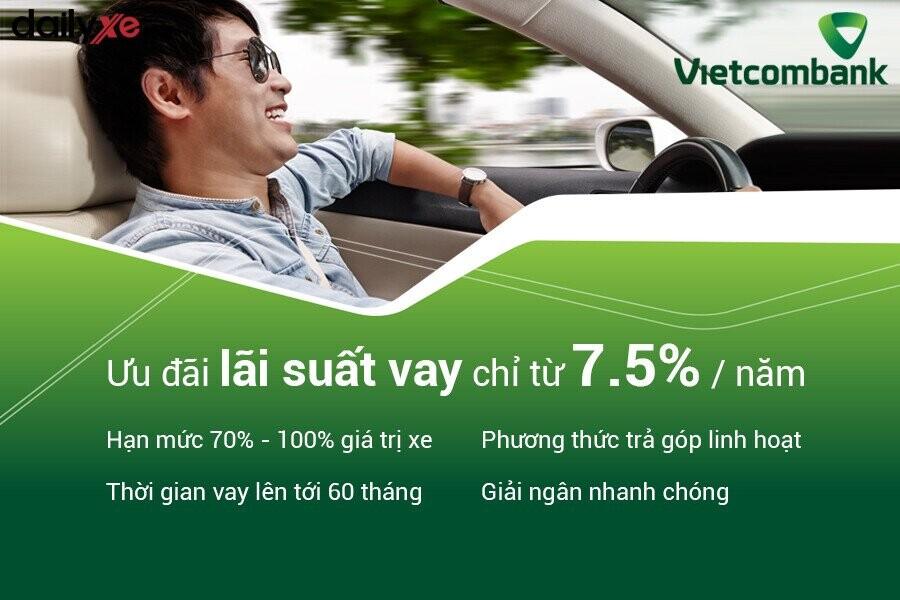 Ưu điểm khi vay mua xe ô tô trả góp tại Vietcombank