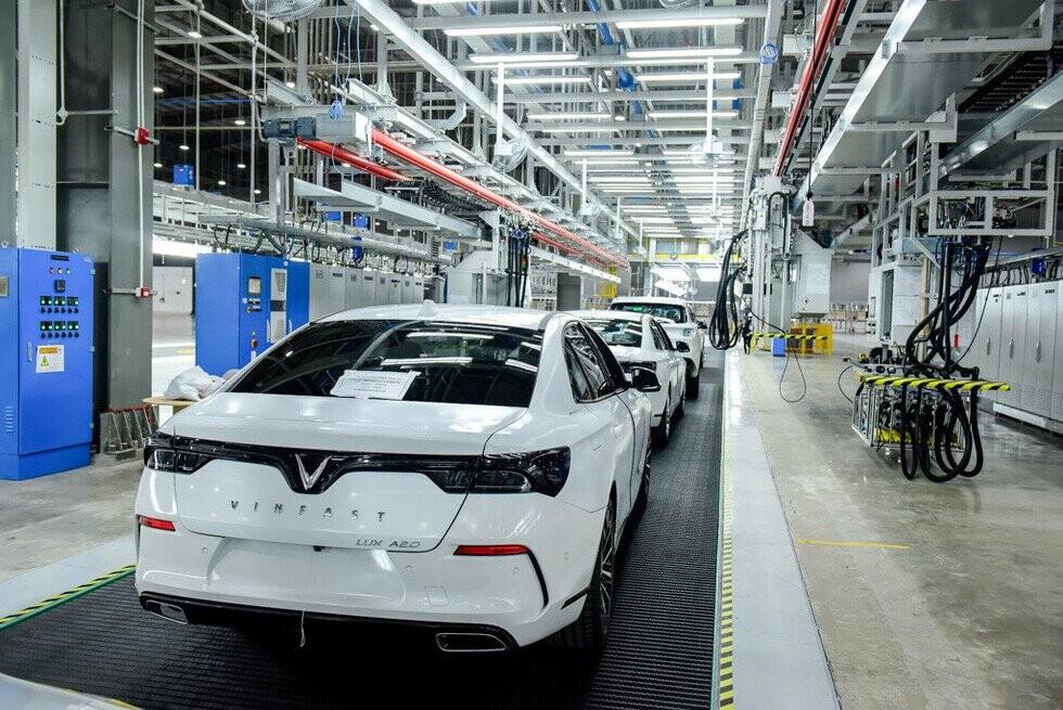 Lô 155 xe, thuộc lô sản xuất thử đầu tiên, trong đó có 113 xe hoàn thiện và 42 xe bán hoàn thiện - Ảnh VF