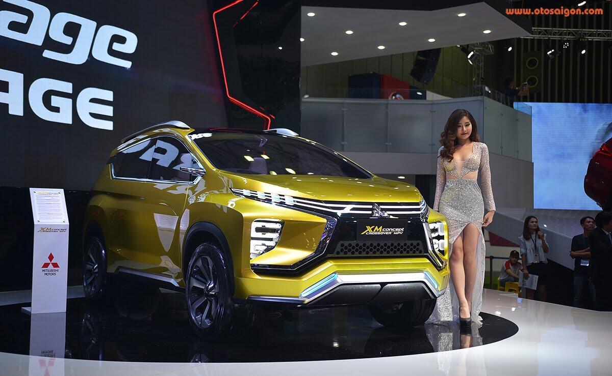 [VMS 2017] Mitsubishi trình làng XM Concept - xe SUV lai MPV - Hình 1