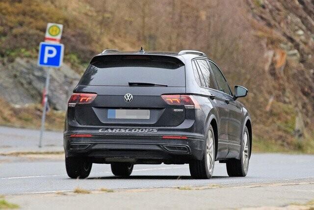Volkswagen Tiguan 2020 lộ diện trần trụi, đe doạ Honda CR-V - Ảnh 4.