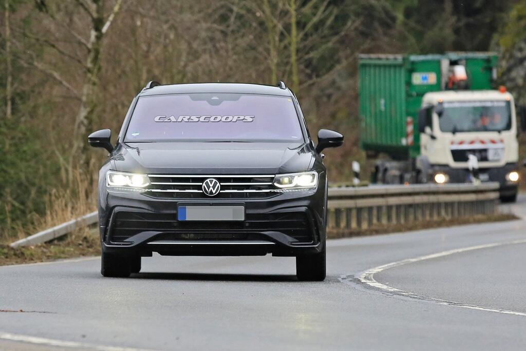 volkswagen tiguan facelift bị bắt gặp trên đường thử  dailyxe