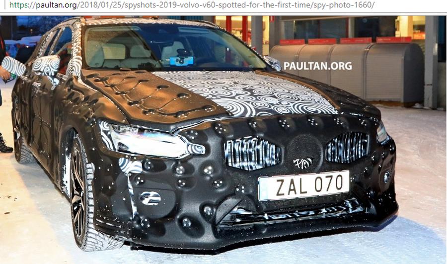 Volvo V60 2019 lần đầu lô diện với hình dạng kỳ dị trên tuyết - Hình 1