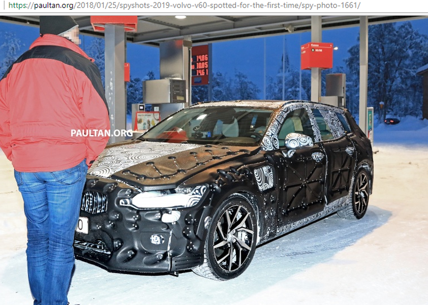 Volvo V60 2019 lần đầu lô diện với hình dạng kỳ dị trên tuyết - Hình 2