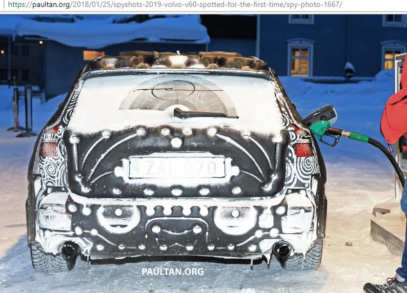 Volvo V60 2019 lần đầu lô diện với hình dạng kỳ dị trên tuyết - Hình 3