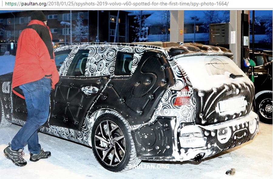 Volvo V60 2019 lần đầu lô diện với hình dạng kỳ dị trên tuyết - Hình 4
