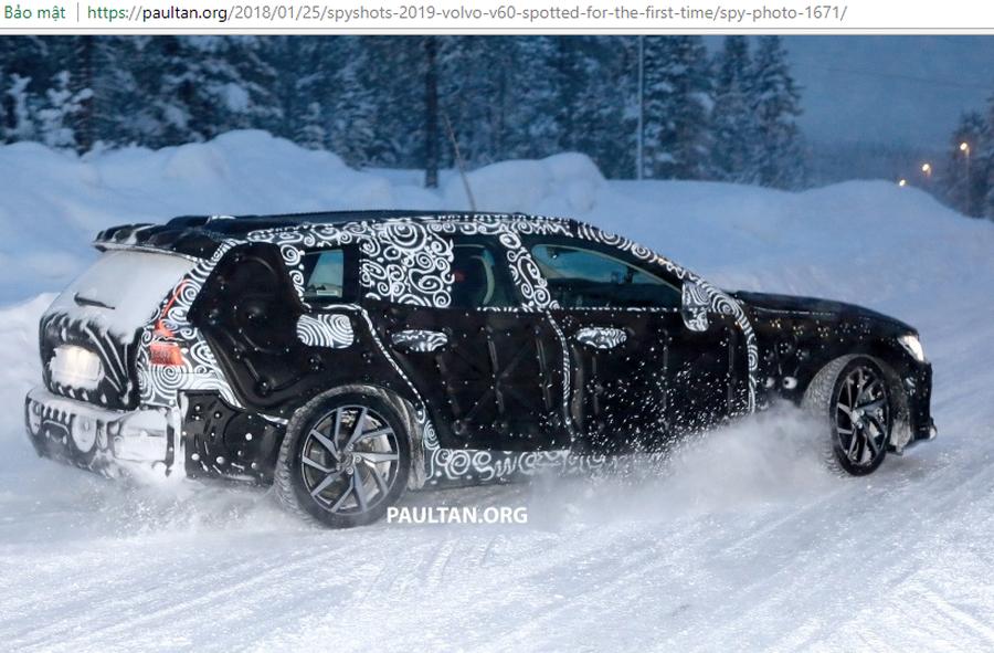 Volvo V60 2019 lần đầu lô diện với hình dạng kỳ dị trên tuyết - Hình 5
