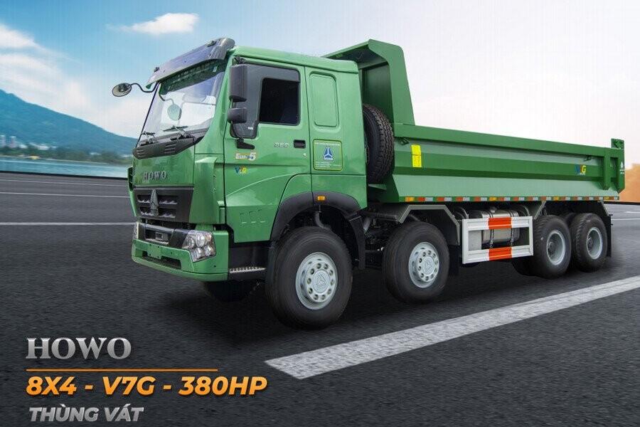 Tổng Quang xe ben Howo 4 chân thùng vuông – V7G