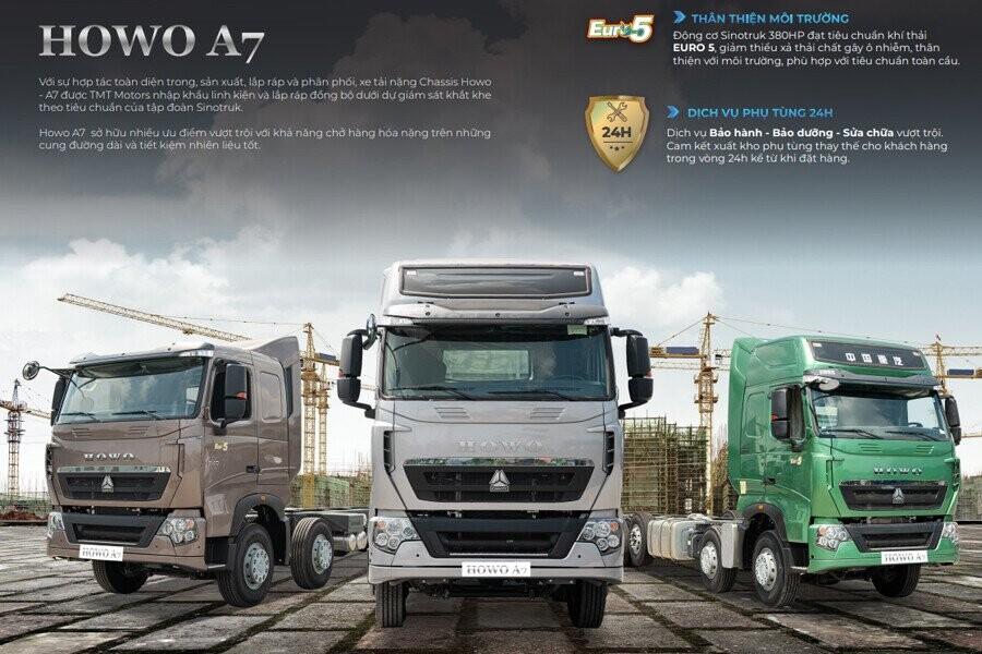 Tổng Quang xe tải Howo 4 chân nóc thấp – A7G