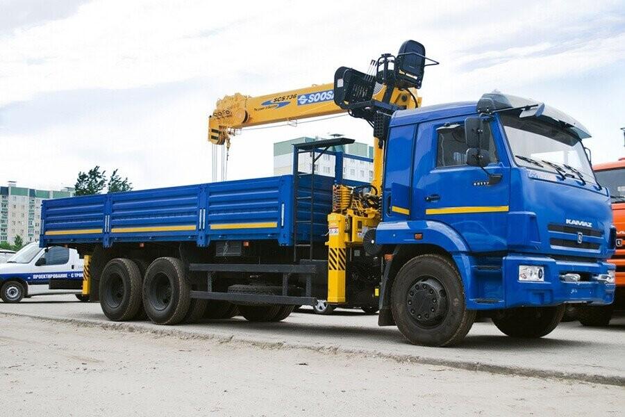 Tổng quan xe tải gắn cẩu Kamaz