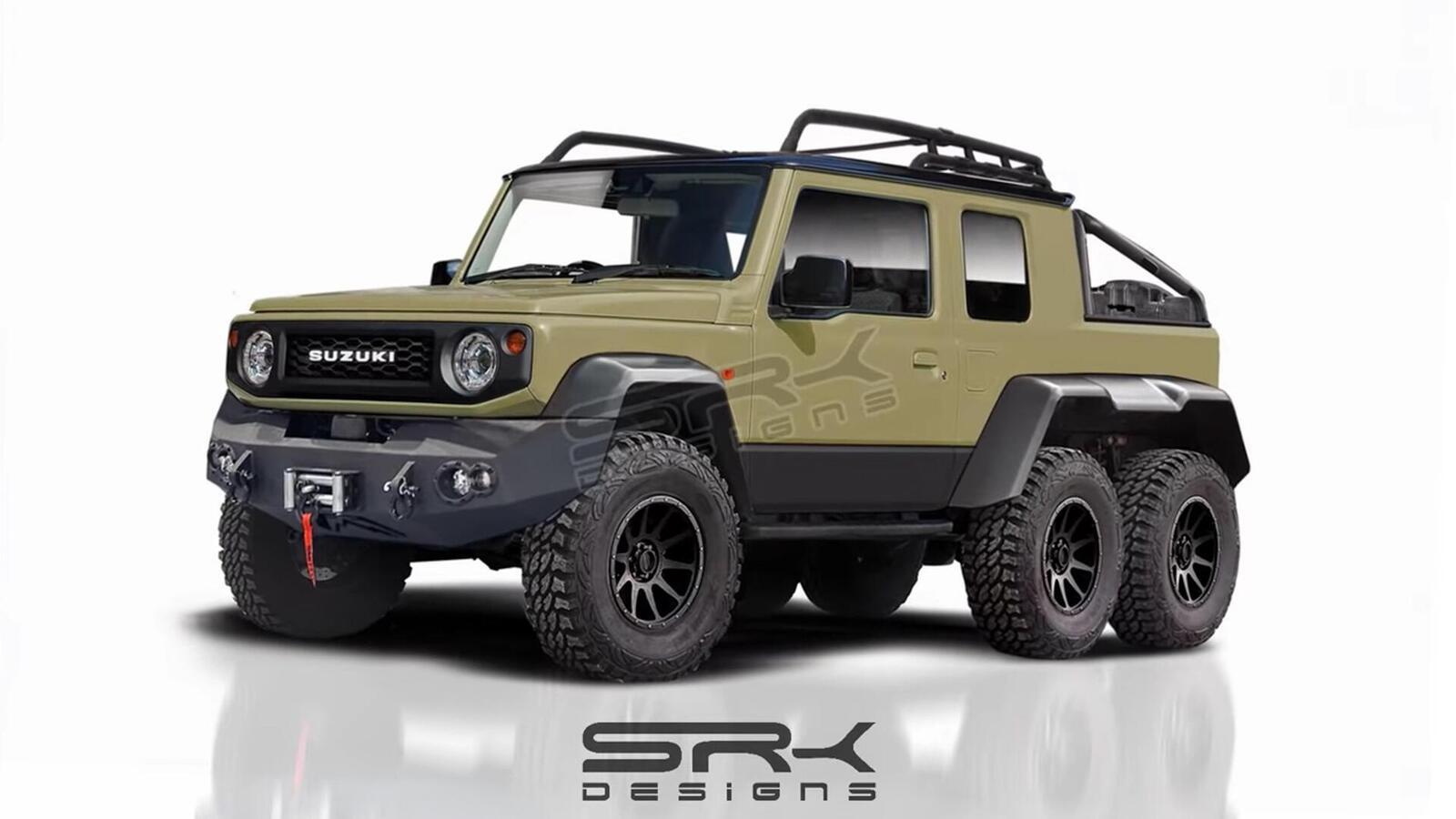 Ý tưởng về một chiếc Suzuki Jimny 2019 độ 6 bánh theo kiểu 6x6 - Hình 1