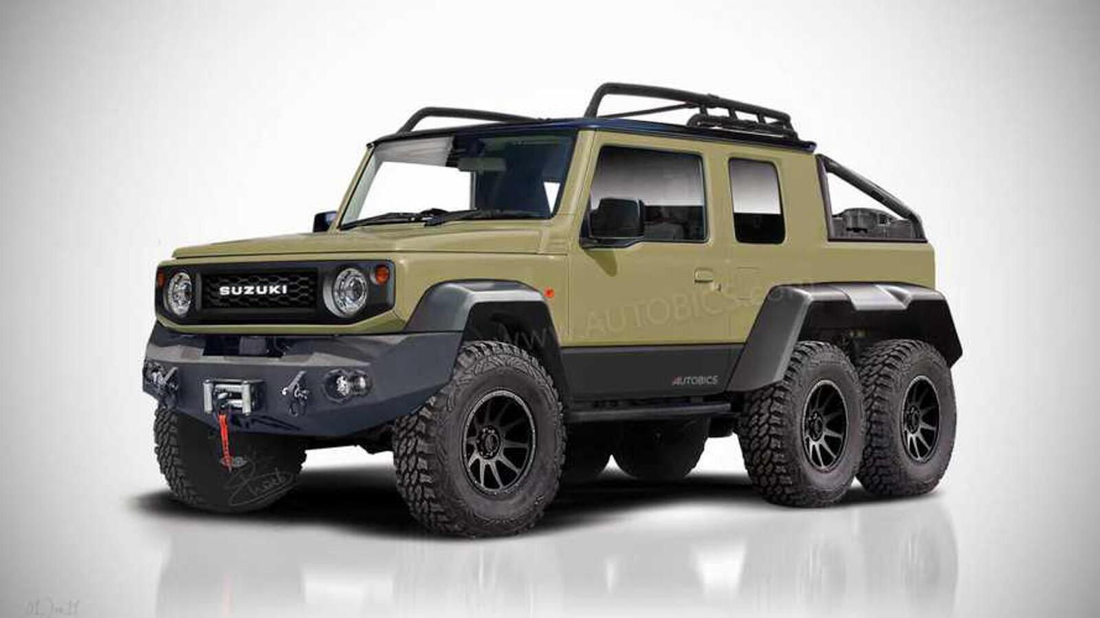 Ý tưởng về một chiếc Suzuki Jimny 2019 độ 6 bánh theo kiểu 6x6 - Hình 2